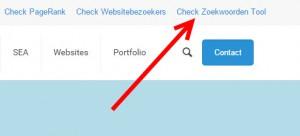 check zoekwoorden tool