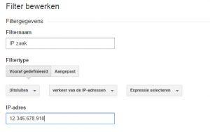 filter eigen ip adres google analytics