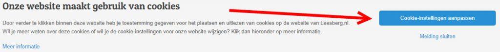 cookie instellingen