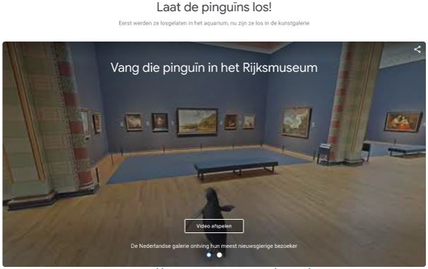 Google Arts and Culture pinguin
